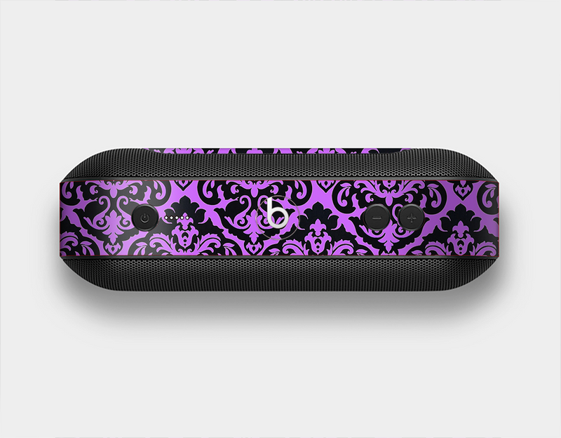 The Black & Purple Delicate Pattern Skin Set for the Beats Pill Plus