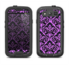 The Black & Purple Delicate Pattern Samsung Galaxy S4 LifeProof Nuud Case Skin Set