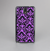 The Black & Purple Delicate Pattern Skin-Sert Case for the Samsung Galaxy Note 3