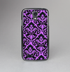 The Black & Purple Delicate Pattern Skin-Sert Case for the Samsung Galaxy S4