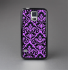The Black & Purple Delicate Pattern Skin-Sert Case for the Samsung Galaxy S5