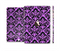 The Black & Purple Delicate Pattern Full Body Skin Set for the Apple iPad Mini 3