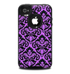 The Black & Purple Delicate Pattern Skin for the iPhone 4-4s OtterBox Commuter Case