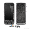 The Black Rain Drops Skin for the Apple iPhone 5c LifeProof Case