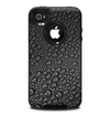 The Black Rain Drops Skin for the iPhone 4-4s OtterBox Commuter Case