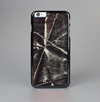 The Black Torn Woven Texture Skin-Sert Case for the Apple iPhone 6 Plus
