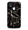 The Black Torn Woven Texture Skin for the iPhone 4-4s OtterBox Commuter Case