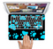 The Black & Turquoise Paw Print Skin Set for the Apple MacBook Air 11""