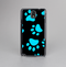 The Black & Turquoise Paw Print Skin-Sert Case for the Samsung Galaxy Note 3