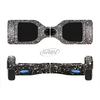 The Black Unfocused Sparkle Full-Body Skin Set for the Smart Drifting SuperCharged iiRov HoverBoard