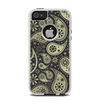 The Black & Vintage Green Paisley Apple iPhone 5-5s Otterbox Commuter Case Skin Set