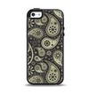 The Black & Vintage Green Paisley Apple iPhone 5-5s Otterbox Symmetry Case Skin Set