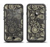 The Black & Vintage Green Paisley Apple iPhone 6/6s Plus LifeProof Fre Case Skin Set