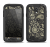 The Black & Vintage Green Paisley Samsung Galaxy S4 LifeProof Nuud Case Skin Set