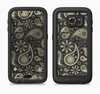 The Black & Vintage Green Paisley Full Body Samsung Galaxy S6 LifeProof Fre Case Skin Kit