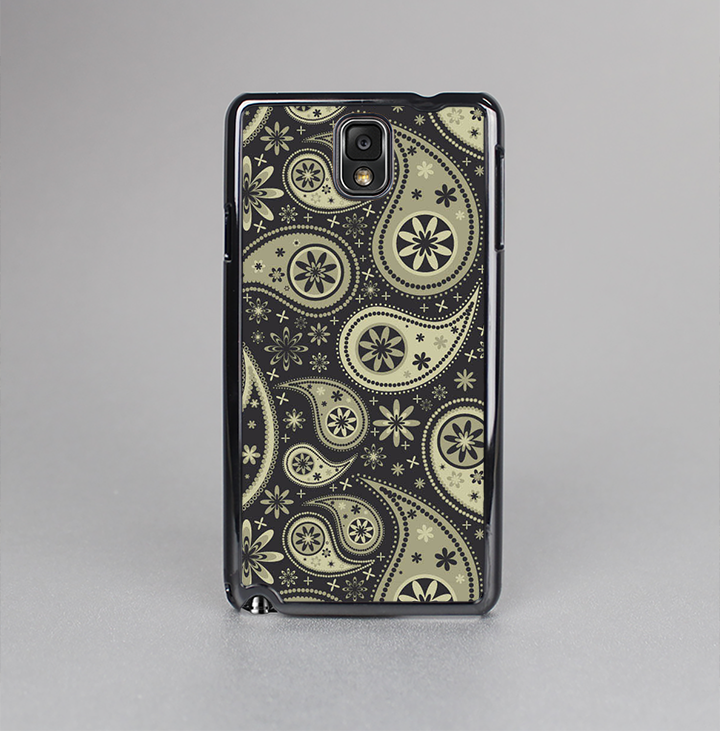 The Black & Vintage Green Paisley Skin-Sert Case for the Samsung Galaxy Note 3