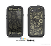 The Black & Vintage Green Paisley Skin For The Samsung Galaxy S3 LifeProof Case