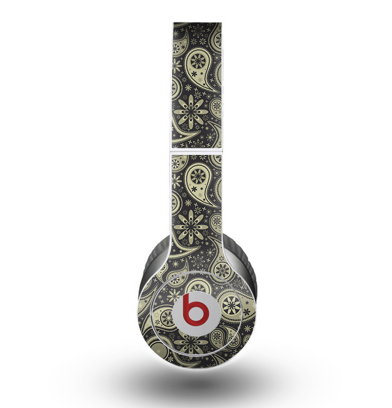 The Black & Vintage Green Paisley Skin for the Beats by Dre Original Solo-Solo HD Headphones