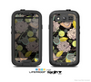 The Black & Vintage Tan & Gold Vector Birds with Flowers Skin For The Samsung Galaxy S3 LifeProof Case