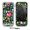 The Black Vintage Vector Heart Buttons Skin for the iPhone 4 or 5 LifeProof Case