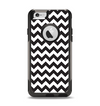 The Black & White Chevron Pattern Apple iPhone 6 Otterbox Commuter Case Skin Set