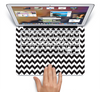 The Black & White Chevron Pattern Skin Set for the Apple MacBook Air 11""