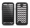 The Black & White Chevron Pattern Samsung Galaxy S4 LifeProof Fre Case Skin Set