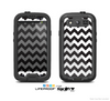 The Black & White Chevron Pattern Skin For The Samsung Galaxy S3 LifeProof Case