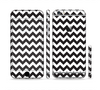 The Black & White Chevron Pattern Sectioned Skin Series for the Apple iPhone 6 Plus