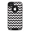 The Black & White Chevron Pattern Skin for the iPhone 4-4s OtterBox Commuter Case