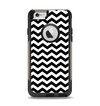 The Black & White Chevron Pattern V2 Apple iPhone 6 Otterbox Commuter Case Skin Set