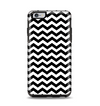 The Black & White Chevron Pattern V2 Apple iPhone 6 Plus Otterbox Symmetry Case Skin Set