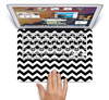 The Black & White Chevron Pattern V2 Skin Set for the Apple MacBook Air 11""