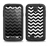 The Black & White Chevron Pattern V2 Samsung Galaxy S4 LifeProof Nuud Case Skin Set