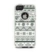 The Black & White Floral Aztec Pattern Apple iPhone 5-5s Otterbox Commuter Case Skin Set