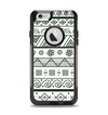 The Black & White Floral Aztec Pattern Apple iPhone 6 Otterbox Commuter Case Skin Set