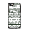 The Black & White Floral Aztec Pattern Apple iPhone 6 Otterbox Symmetry Case Skin Set