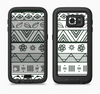 The Black & White Floral Aztec Pattern Full Body Samsung Galaxy S6 LifeProof Fre Case Skin Kit