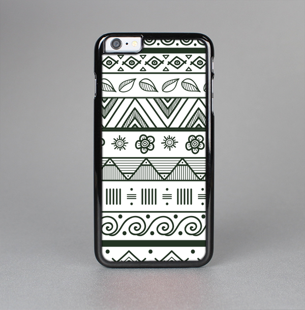 The Black & White Floral Aztec Pattern Skin-Sert Case for the Apple iPhone 6 Plus