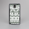 The Black & White Floral Aztec Pattern Skin-Sert Case for the Samsung Galaxy Note 3