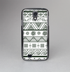 The Black & White Floral Aztec Pattern Skin-Sert Case for the Samsung Galaxy S4