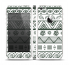 The Black & White Floral Aztec Pattern Skin Set for the Apple iPhone 5