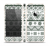 The Black & White Floral Aztec Pattern Skin Set for the Apple iPhone 5s