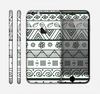 The Black & White Floral Aztec Pattern Skin for the Apple iPhone 6