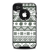 The Black & White Floral Aztec Pattern Skin for the iPhone 4-4s OtterBox Commuter Case