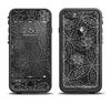 The Black & White Floral Lace Apple iPhone 6/6s Plus LifeProof Fre Case Skin Set