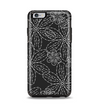The Black & White Floral Lace Apple iPhone 6 Plus Otterbox Symmetry Case Skin Set