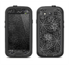 The Black & White Floral Lace Samsung Galaxy S4 LifeProof Fre Case Skin Set