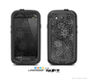 The Black & White Floral Lace Skin For The Samsung Galaxy S3 LifeProof Case