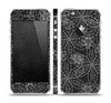 The Black & White Floral Lace Skin Set for the Apple iPhone 5